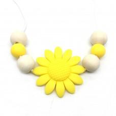 Colar mordedor Flor amarela
