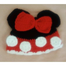 Gorro Touca Crochê Minnie