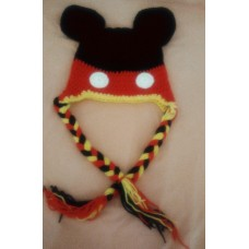 Gorro Touca Crochê Mickey