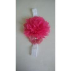 Enfeite faixa Elástica Flor Rosa