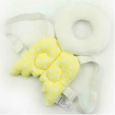 Almofada Mochila Proteção de cabeça para bebês Anjo amarelo