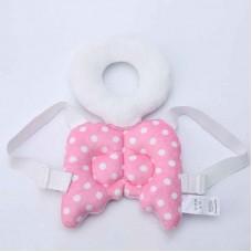 Almofada Mochila Proteção de cabeça para bebês Anjo rosa