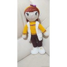 Boneca de Crochê Amigurumi BC006P