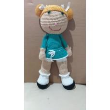Boneca de Crochê Amigurumi BC007P