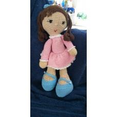 Boneca de Crochê Amigurumi BC012P