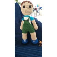 Boneca de Crochê Amigurumi BC014P