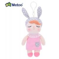 Mini Metoo Chaveiro Coelha rosa e cinza