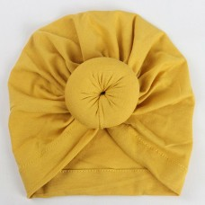 Turbante bebê de tecido Amarelo